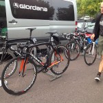 Team Giordana's Pinarello's looked smart